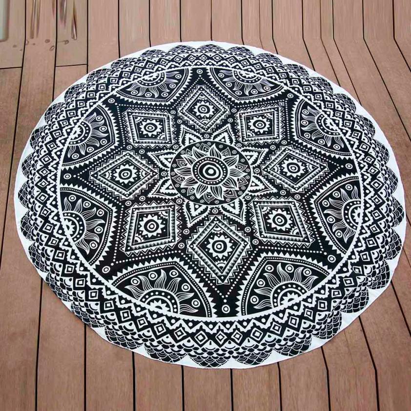 High Quality Table Cover Table Cloth Happy Gifts Chiffon Fondos De Pantalla Round Beach Pool Home Blanket Yoga Mat D30M25
