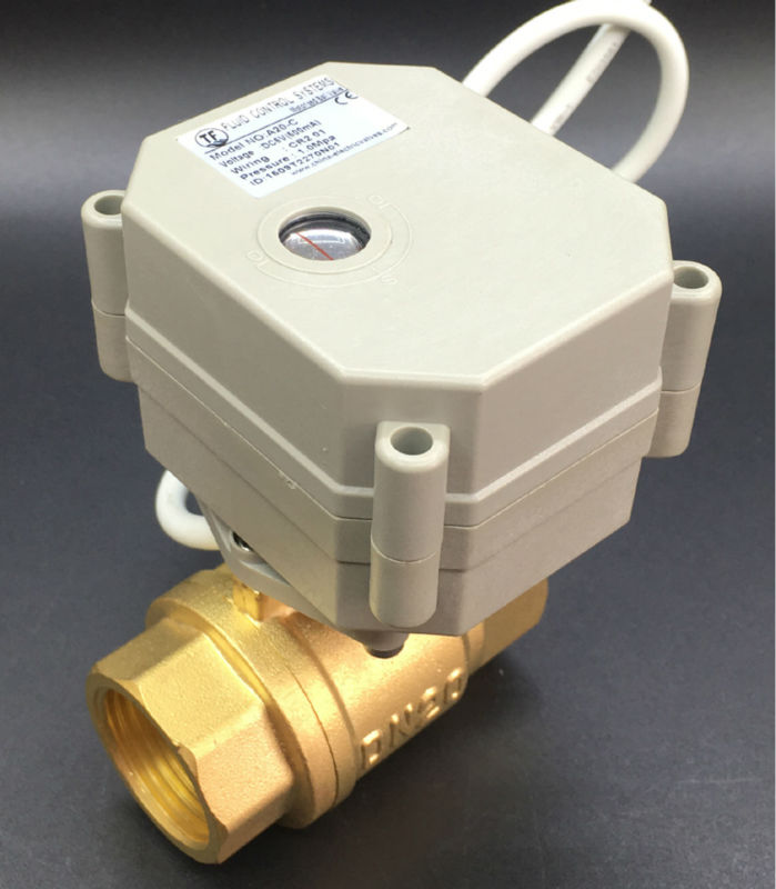 2Nm Actuator With BSP/NPT 3/4'' Brass Valve AC110V-230V 3 Wire 4 Wires 2-Way DN20 Motorized Ball Valve TF20-B2-C mini brass ball valve panel mountable 450psi with lever handle chrome plated malexfemale npt