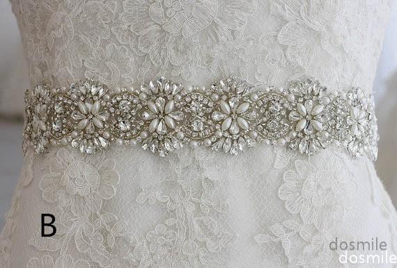 2016 Crystals Bridal Sash Wedding Belt Beaded Rhinestone Wedding Accessories