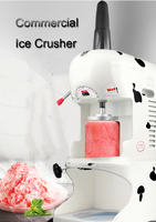 Ice Crusher Commercial Snow Ice Maker Automatic Shaving Machine Snow Ice Shaver Block Shaving Machine Easy Operation EVC P1