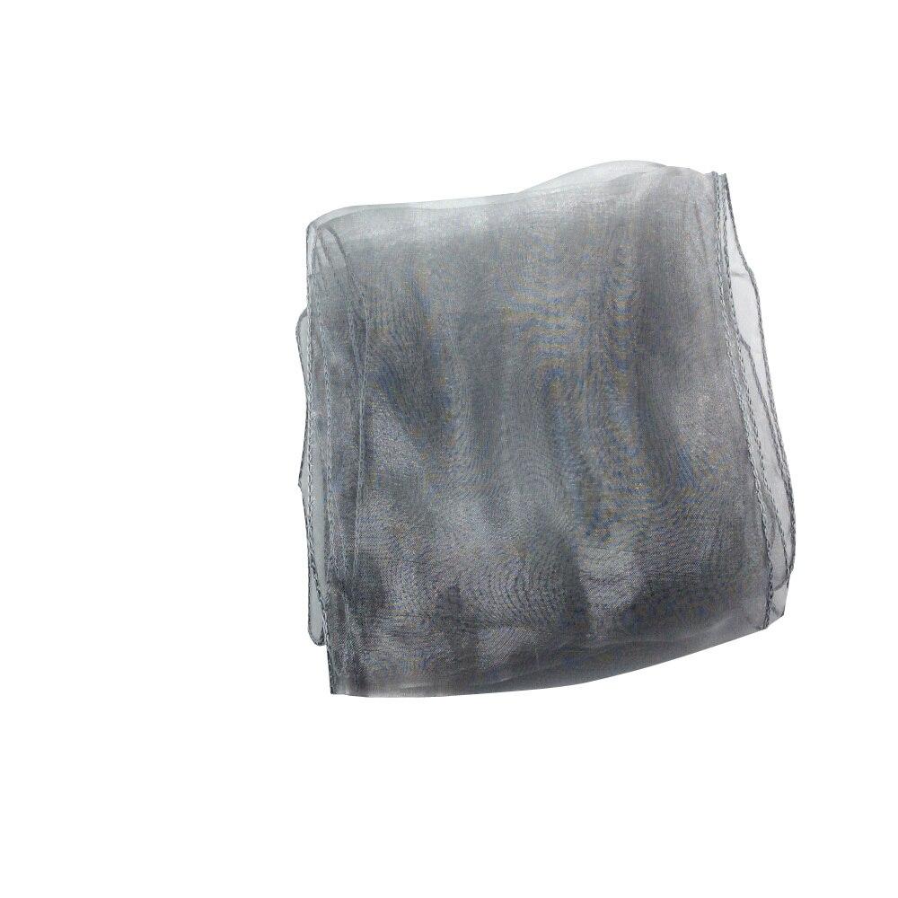 100 штук темно-серебристый/серый органзы группы створки свадебные стул Пояса лук Банкетный Свадебная вечеринка украшения