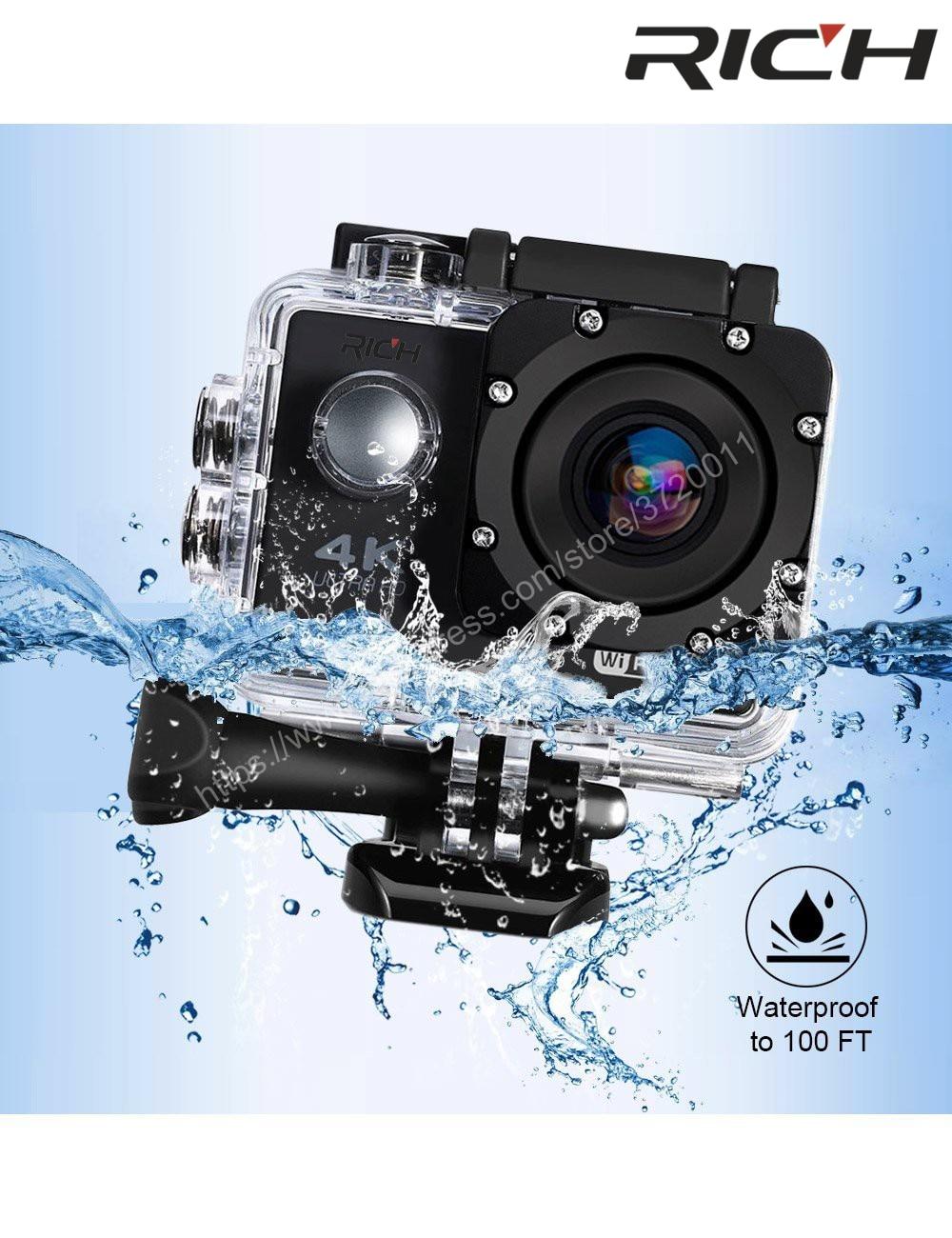 REICHE F5 action kamera WiFi 1080 p 170D Len 2,0 LCD Helm Cam gehen Unterwasser pro Wasserdicht Sport HD kameras camcorder DV stil