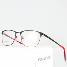 2018 New Fashion Glasses Frame Alloy Square Prescription Clear Myopia Women Optical Eyewear cadre lunettes optique homme