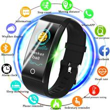 LIGE Sport Bracelet Smart Men Pedometer Heart Rate Monitor Waterproof IP68 Swimm Running Fitness Watch For Android IOS + Band bangwei fitness smart watch men women pedometer heart rate monitor waterproof ip68 swimming running sport watch for android ios
