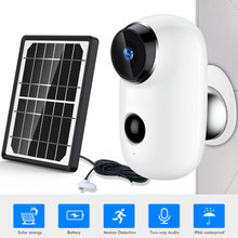 SDETER Wire-Free Wifi Camera Outdoor Rechargeable Battery With Solar Panel 720P Security IP Camera Outdoor 2-way Audio PIR Alarm(China)