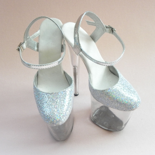 Sexy 20cm Ultra High Heels Crystal Sandals Colorful Glitter Platform The Bride Wedding Shoes 8 Inch Women's Shoes|High Heels| - AliExpress