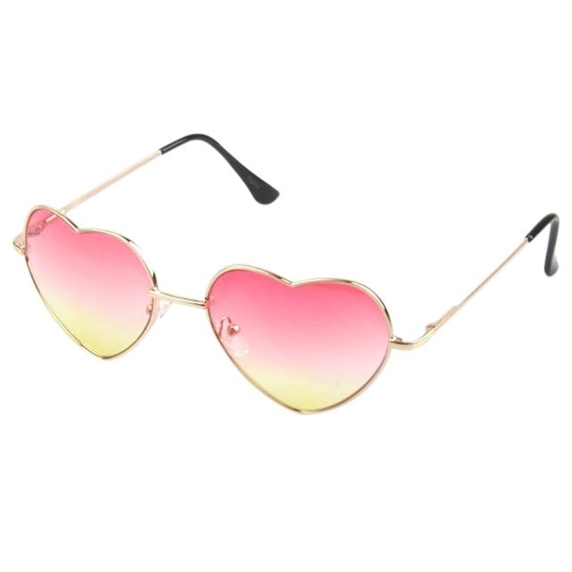 71520b30eb3 Gradient Colored Sunglasses Women Cute Heart Shaped Glasses plastic 5  colors eyewear 2017 Mirror oculos de