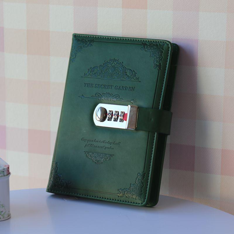 2019 retro vintage caderno senha livro planejador