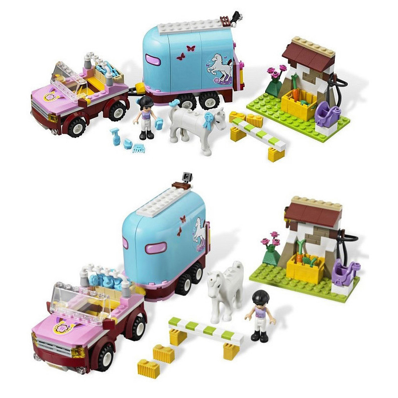 BELA 10161 Friends Horse Farm Trailer Building Blocks Set Girls Toys Compatible with Friends 3186 tomy прицеп для самосвала big farm bulk tipping trailer с 3 лет