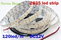 Non waterproof SMD 2835 120Led/m 5M 600 Led Striplight DC 12V Flexible LED Strips, light color White/Warm white/Blue/Red/Green
