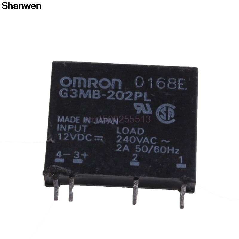 BGEKTOTH1Pc New Solid State Relay G3MB-202P DC-AC PCB SSR In 12V DC Out 240V AC 2A smart electronics original solid state relay g3mb 202p dc ac pcb ssr in 5vdc out 240v ac 2a