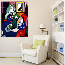 Pablo Picasso Woman With A Book Canvas Painting Print Living Room Home Decor Modern Wall Art Oil Painting Poster Salon Pictures pablo picasso woman canvas painting prints living room home decor artwork modern wall art oil painting poster accessories art hd
