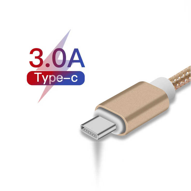 USB Type C Cable For Samsung S10 Huawei P30 Pro Fast Charge Type-C Mobile Phone Charging Wire USB C Cable for Samsung S9 S8