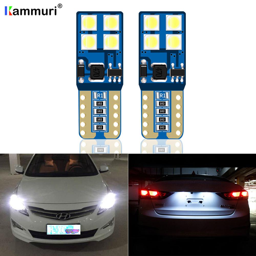 2x For Kia Sorento MK1 Bright White 8SMD LED Canbus Number Plate Light Bulbs