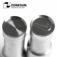 ZONESUN NK Sugar Tablet Press 3D Punch Mold Candy Milk Salt Punching Custom Logo Tablet Punch Die TDP0/5 Making Machine