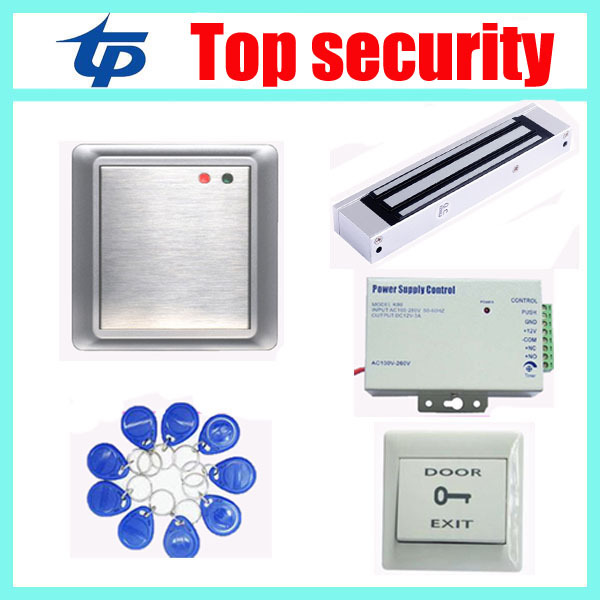 Standalone Waterproof Access Control Kits smart 125KHZ RFID card access control card reader metal access control panel