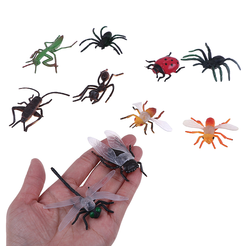 10Funny Assorted Figure Realistic Bugs Plastic Insects Kids Party Bag Filler Toy  Halloween Decoration Joke Prank Fun Novelty
