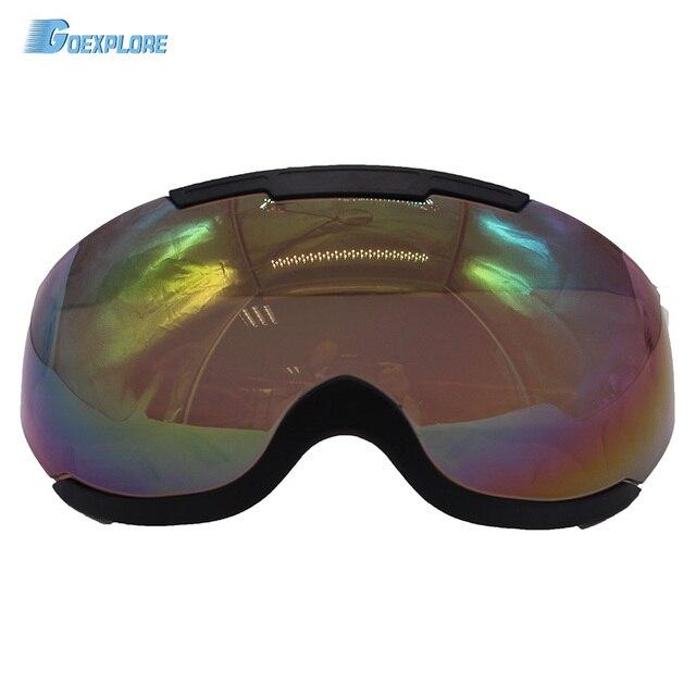 Goexplore Viseira para capacete De Esqui Fora anti-risco e anti-fog no  interior d4c9970b459