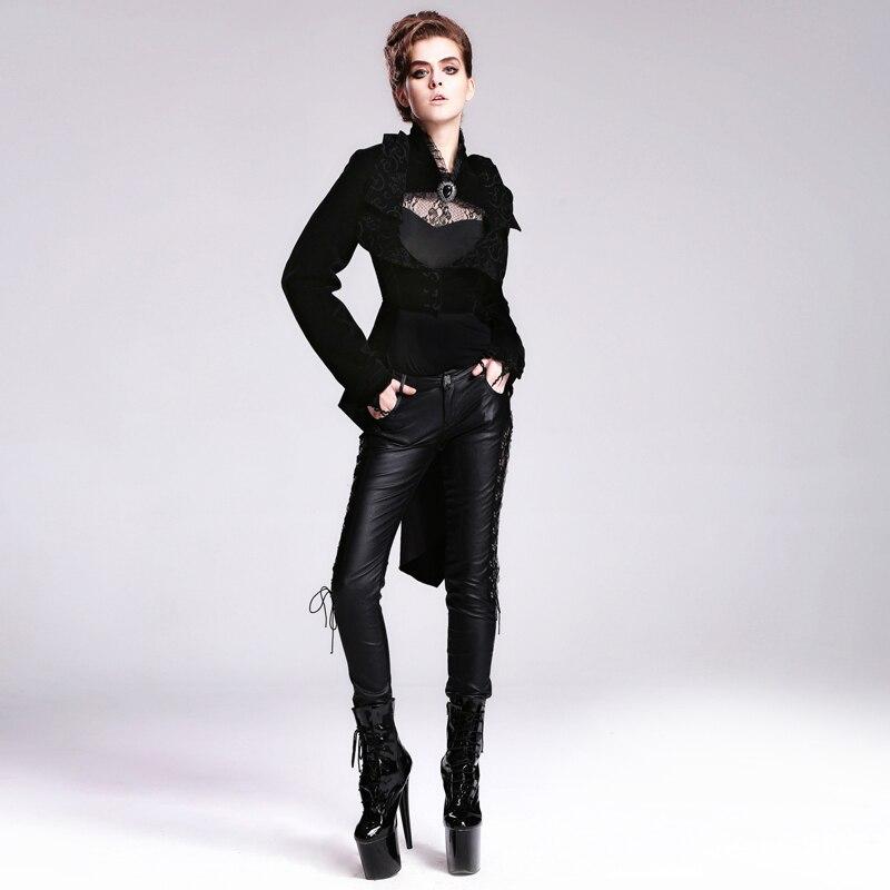 Hiver Punk Extérieur Vestes Noir Dames Longues Victorien Manches Vêtement De Habit Mode Diable Sexy Automne Gothique Corset PymNOvnw80