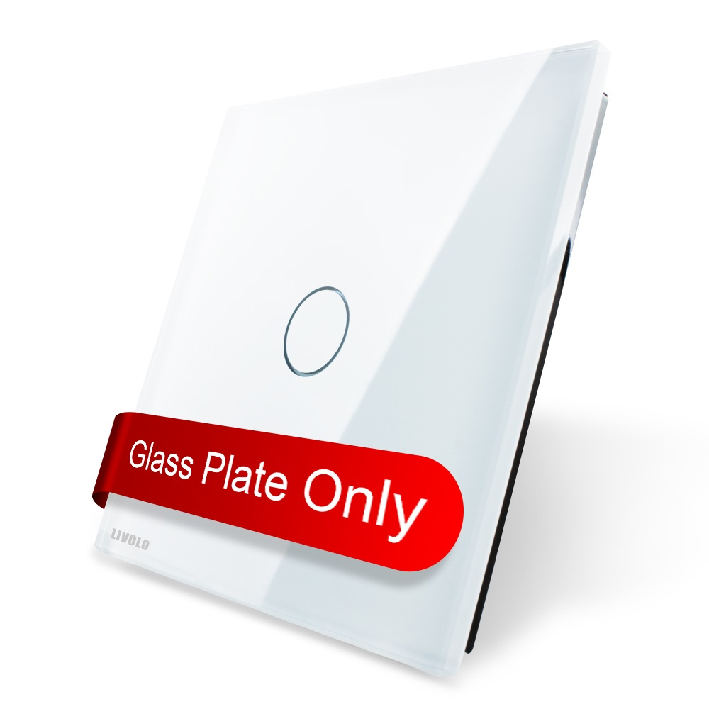 Luxury White Pearl Crystal Glass, 80mm*80mm, EU standard, Single Glass Panel For 1 Gang Wall Touch Switch,VL-C7-C1-11 mvava eu standard single glass panel 1 gang 1 way remote control wall touch switch luxury white pearl crystal glass 80mm 80mm