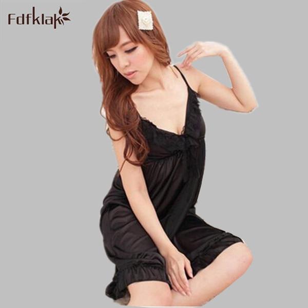 Womens Sexy Lace Nightgowns Faux Silk Summer Dress Women Sleepwear Sleepshirts Short Satin Nightgown Ladies Nightdress Q619