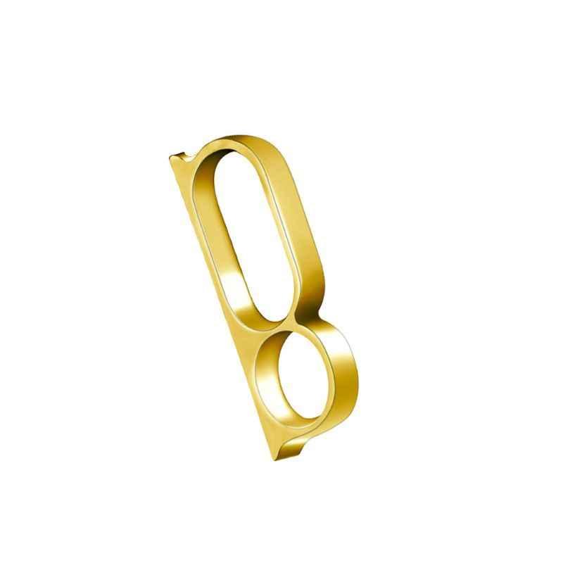 Hip Hop เม็กซิกัน BIKER Triple นิ้วมือแหวนเรียบง่ายแฟชั่น Unisex เครื่องประดับ 2019 ของขวัญ