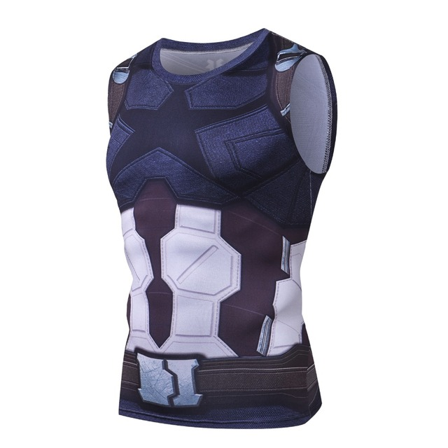 bd1003d60dded7 2018 Marvel 3D Printed Captain America Tank Tops Men G ym Crossfit Fitness  Clothing Sportswear Bodybuilding Muscle Vest Tanktop