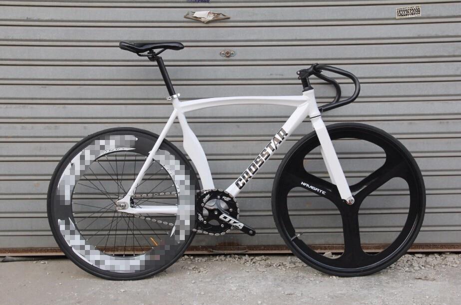 Bici fija del engranaje pista de bicicleta de aluminio crosstar una ...