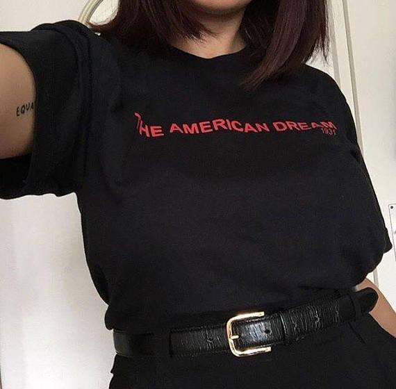 f0407e4f5 The American Dream 1931 T-Shirt Women Unisex Fashion Clothes Cotton Casual  tshirt Tumblr Graphic
