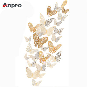 Anpro 12 Pcs 3D Butterfly Wall Stickers Decals for Wall