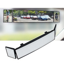 Newest 15''Universal Car Rear View Mirror Wide Angle Clip-on Curved Mirror Anti-dazzle Interior Rearview Mirror