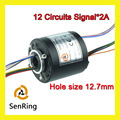 Miniature generator motor hole size SENRING 12.7mm with 12 circuits signal of through bore slip ring