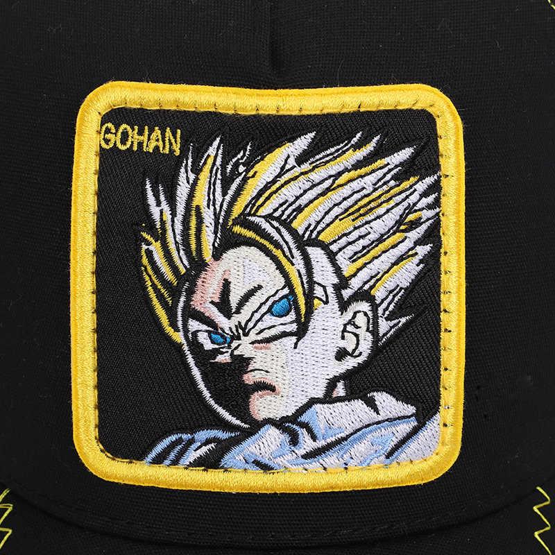 ใหม่ Dragon Ball Z Goku VEGETA MAJIN Snapback เบสบอลหมวกผู้ชายผู้หญิง Hiphop หมวก Trucker หมวกหมวกคุณภาพสูง dropshipping