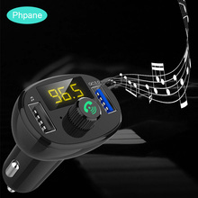 Handsfree Bluetooth FM Transmitter 4.2 USB Auto QC3.0 Car Charger LED Display Fast Charging Cargador Rapido For Motorola Huawei