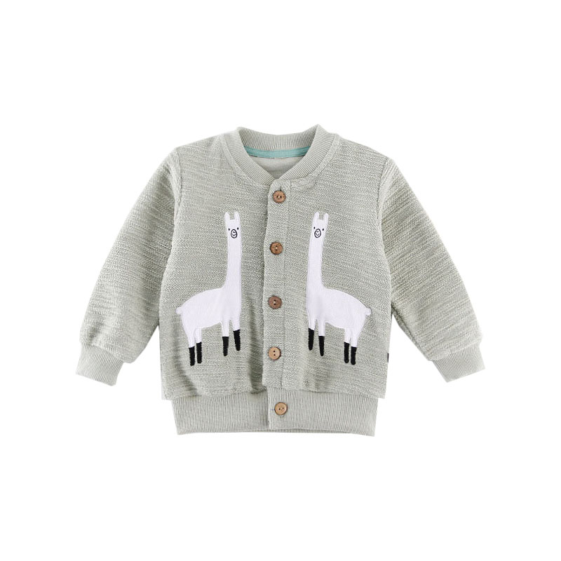 Niedlichen Tier Kinder Mantel 2018 Neue Kinder Oberbekleidung Jungen Mädchen mantel Blau Rosa Baby Strickjacke Frühjahr Herbst Mode Mädchen Jungen Sweatshirts