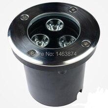 O envio gratuito de 3 w LED Jardim luz subterrânea inground lâmpada AC110-240 V 240lm