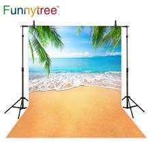 Funnytree fundo para photo studio praia verão folhas tropicais sky backdrop fotografia photo shoot photocall