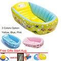 0-3 Ano Crianças Espessamento Banheira bacia de Lavagem Dobrável Bebê Banheira Inflável Do Bebê Piscina de 3 opções de cores Portátil banheira