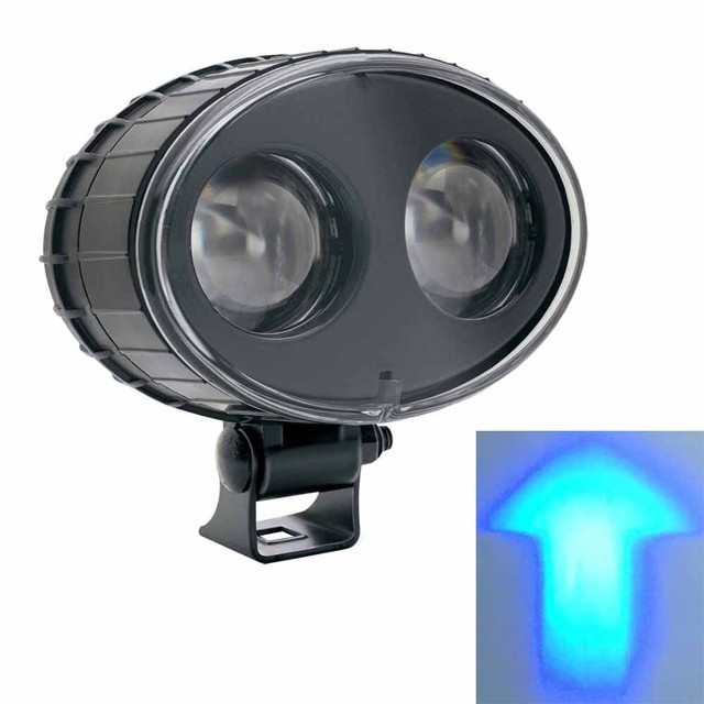 2 X 10 80 VDC Forklift Blue Arrow LED Spot Light Warehouse