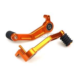 Image 2 - Orange Motorcycle Foot Brake Lever & Gear Shifting Lever Pair CNC Aluminum Pedal for KTM 390 Duke 2013 2014 2015 2016 125 200
