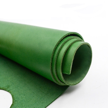 DIY handmade material leather leather carving leather first layer leather olive green color