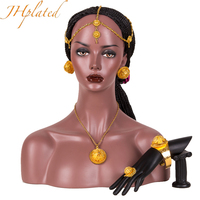 Gold Color Ethiopian set Jewelry Bride Wedding Forehead Pieces Africa Eritrea Habesha Gift Hair Pice for Women