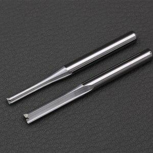 Image 1 - 10 adet 3.175mm 4mm Iki Flüt Düz freze uçları ahşap CNC Düz Gravür Kesiciler Karbür Frezeler Kesme freze araçları