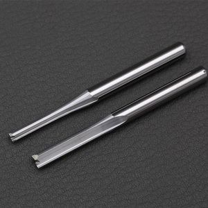 Image 1 - 10 pc 3.175mm 4mm Two Flutes Straight router bits for wood CNC Straight Engraving Cutters Carbide Endmills Cutting Milling Tools