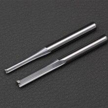 10 st 3.175mm 4mm Twee Fluiten Rechte frezen voor hout CNC Rechte Graveerfrezen Carbide Endmills Cutting frezen Gereedschap