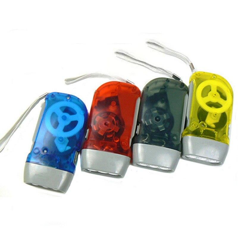 4 шт. Кемпинг комфортных мини легкой руки нажатие кривошипно аварийного Отдых на природе 3 светодиодов фонарик Открытый Свет P20