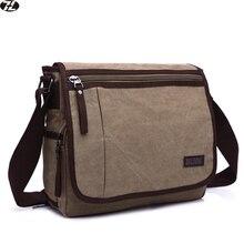 2016 nouveaux hommes messenger sacs de Haute qualité toile d'épaule sac D'ordinateur Portable hommes sacs de voyage mode serviette Affaires bandoulière sacs