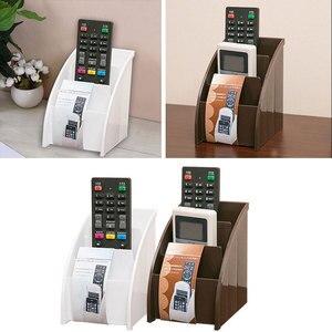 Image 3 - Soporte de plástico para mando a distancia de TV, soporte para teléfono móvil, cajas de almacenaje para oficinas, estuche de almacenamiento para escritorio