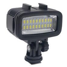 Venidice LED-20 20ชิ้นใต้น้ำ40เมตรไฟดำน้ำกันน้ำวิดีโอLEDสำหรับกล้องDV Gopro HTC XIAOYIและอื่นๆการกระทำกล้อง