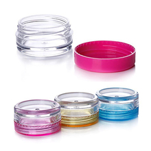 Hot 10PCS Cosmetic Sifter Jars Pot Box Nail Art Cosmetic Bead Storage Makeup Cream Plastic Container Round Refillable Bottles